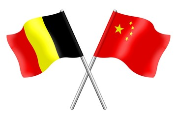 Flags: Belgium and China