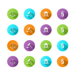 LEGAL ICON buttons (scales of justice law poster set)