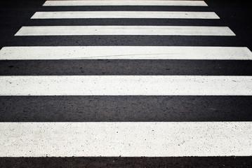 Zebra pedestrian crossing.