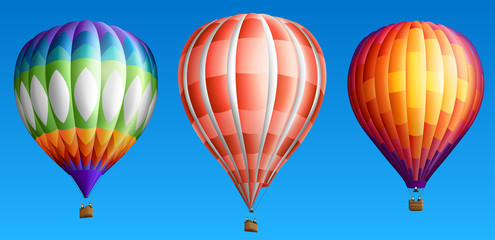 Hot air balloons set two