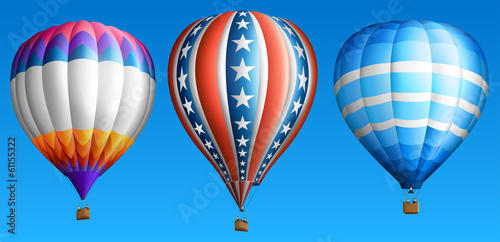 Fototapeta Hot air balloon set five