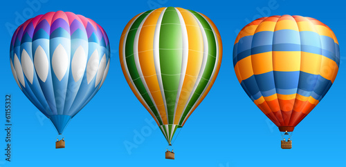 Fototapeta Hot air balloons set four