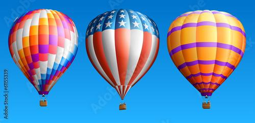 Hot air balloons set three - 61155339