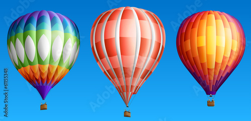 Fototapeta Hot air balloons set two