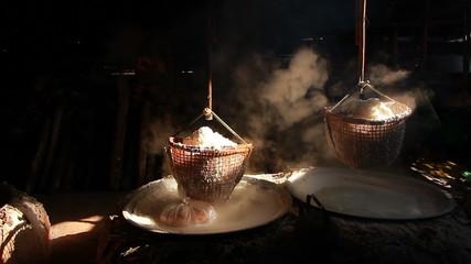 Inherit rock salt production , Bor Kluar, Nan province, Thailand