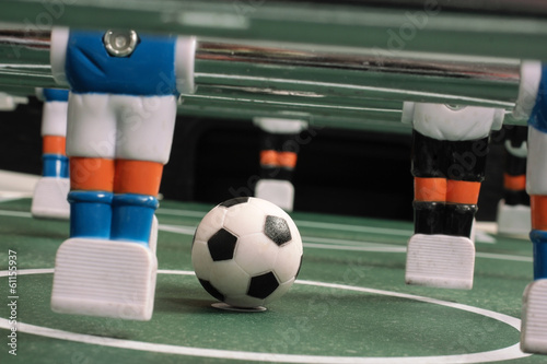 Start of play, tabletop soccer