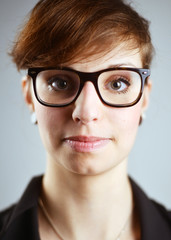 Young Girl with big Glasses