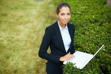 Nature friendly businesswoman