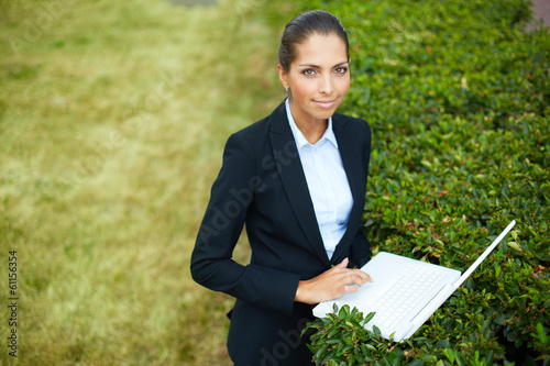 Nature friendly businesswoman