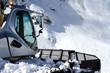 Leinwandbild Motiv Ratrak, grooming machine, special snow vehicle