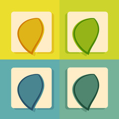 modern flat icon set for web and mobile application