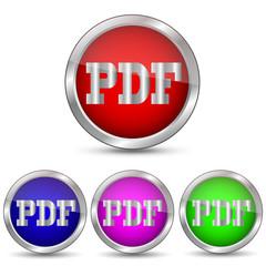 векторная кнопка PDF