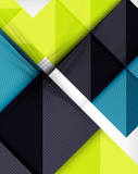 Geometric shape flat abstract background