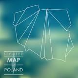Fototapety stylized map of Poland