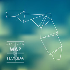 stylized map of Florida