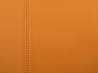 Stitched tan leather