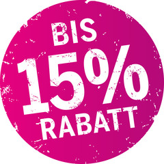 Sticker 15% Rabatt violett