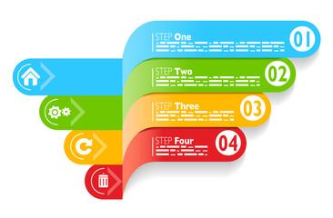 Infografica esempi numeri fascette colorate