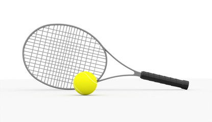 Tennis racket rendered isolated