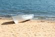 Leinwandbild Motiv Sand beach and boats