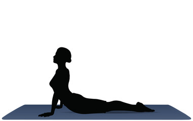 Yoga positions in Cobra Pose