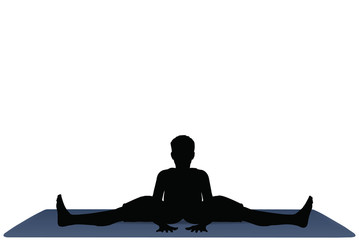 Yoga positions in Wide Angle Bend pose