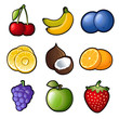 Set fruit icons