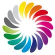 Bunte Tropfen - Farben Kreis