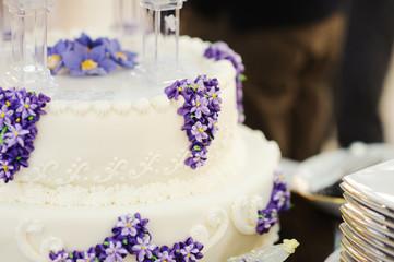 Lilac on Wedding Cake