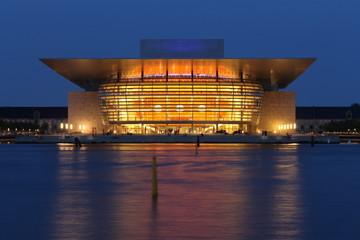 Dänemark Kopenhagen Oper by night