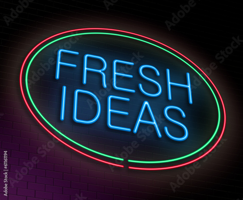 Fresh ideas concept.