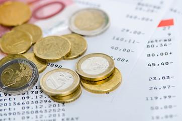 verschiedene Euromünzen