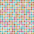 3d backdrop multi color circle pattern on white