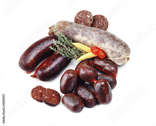 assorted blood sausage