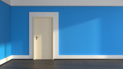 blue wall interior