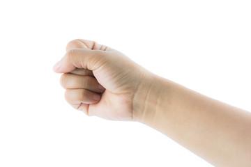 Hand gesture number zero