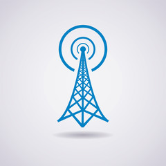 vector design of radio tower broadcast icon
