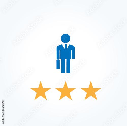 ビジネスマン 三ツ星