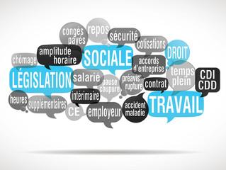 nuage de mots : législation sociale, droit du travail (cs5)