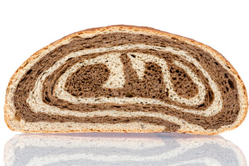 Gourmet bi-colour white and brown bread