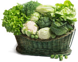 vegetables in the basket