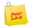 find love post illustration design