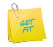 get fit message illustration design