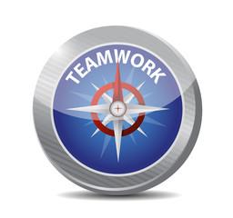 teamwork compass illustration design