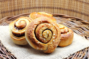 Cinnamon rolls. Scandinavian kanelbullar