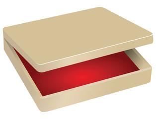 Box with red velvet