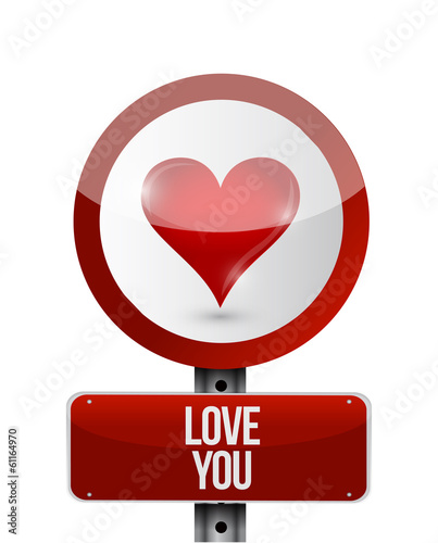 love you sign illustration design