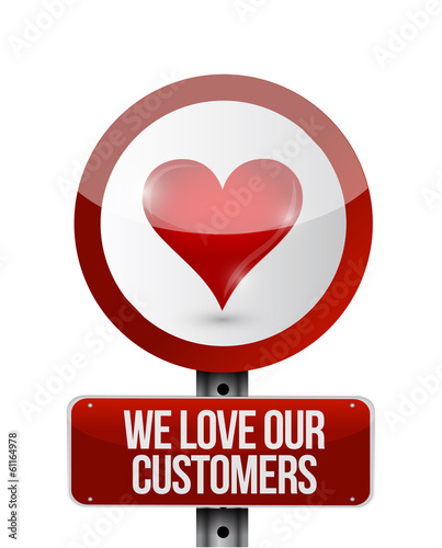 we love our customers illustration design