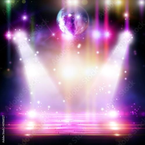 Plexiglas Licht, schaduw Abstract disco ball_Background with flashing lights.