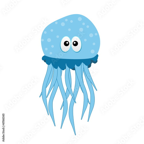 Funny and beautiful jellyfish